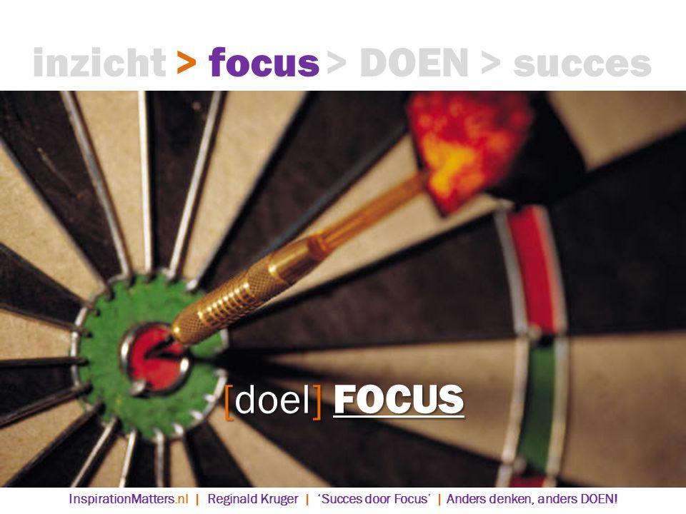 inzicht > focus > DOEN > succes [doel] FOCUS